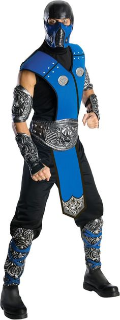 Mortal Kombat Sub-Zero Costume for Adults - Party City