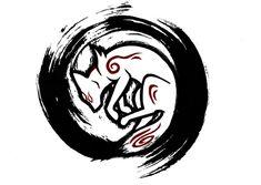 Okami Tattoo Design by nekuroSilver on deviantART
