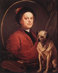 The Painter and his Pug by William Hogarth