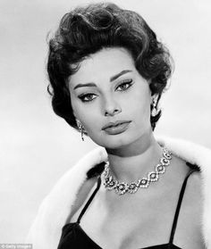 Made in Italy: Sophia Loren, pictured in 1958 and now 82-years-old, credits olive oil baths as one of the secrets to maintaining her youthful appearance