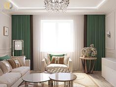 Дизайн интерьера гостиной в двухкомнатной квартире 81 кв.м в стиле неоклассика с элементами ар-деко12 Home Kitchens, Sweet Home, Curtains, Projects, Home Decor, House, Log Projects, Blinds, Blue Prints