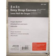 Sibiu 5 ft. x 5 ft. Easy Drop Cloth-556Z at The Home Depot Use for diy shower curtains. Paint or add printed fabric to personalize. Punch grommets along the top to hang.
