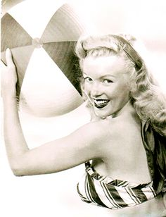 Marilyn does the Pabst Beer shoot, August 4th, 1949...