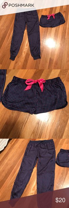 AERIE pj pants/shorts bundle set Perfect condition, silky, pants are XS shorts are S but both fit like S!! aerie Other