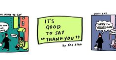 use thank you instead of sorry