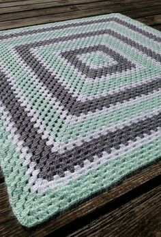 Check out this item in my Etsy shop https://www.etsy.com/listing/462864445/mint-green-crochet-baby-blanket-green