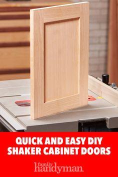 Quick and Easy DIY Shaker Cabinet Doors