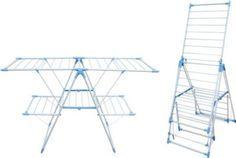 Unser flexibel einstellbarer Ständer zum Aufhängen von Wäsche bietet Ihnen einen rundum praktischen Trockenkomfort!