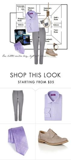 """""""Vern Claythorne 1.0 {GenderBent! And Then There Were None}"""" by sarah-natalie ❤ liked on Polyvore featuring River Island, Lorenzo Uomo, John W. Nordstrom, Lotus, men's fashion and menswear"""