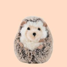 Stuffed Animal - Spunky Hedgehog This plush and soft little hedgehog friend is sure to become a favorite amongst the kiddos. And no need to worry about it getting dirty; this little guy can be machine washed. Perfect for ages 24 months and older. Sewing Stuffed Animals, Cute Stuffed Animals, Stuffed Animal Patterns, Cute Animals, Stuffed Toys, Animal Projects, Animal Crafts, Beanie Boos, Kawaii