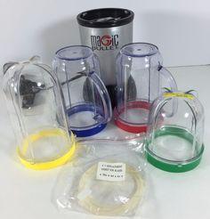 Make food in seconds! #MagicBullet NutriBullet Gray #Blender #Juicer Extractor Set Incomplete