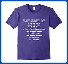 Mens 2002 15th birthday T shirt gift for 15 year old boys / girls 3XL Purple - Birthday shirts (*Amazon Partner-Link)