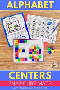 These alphabet connecting cube mats are a fun and perfect activity to help begin mornings bins or centers at the beginning of the school year. There is a student friendly 'I Can' sheet included to show students how to complete the activity. Then, they take a letter mat and start building the letter on the mat with the connecting cubes. Last, students will color the letter they have built on their recording sheet. This will allow them to know which letters they have completed.