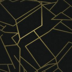 ANGLES wallpaper by Erica Wakerly is a geometric metallic wallpaper, in gold black. Black And Silver Wallpaper, Metallic Wallpaper, Modern Wallpaper, Designer Wallpaper, Black Silver, Graphic Wallpaper, Matte Black, Iphone Wallpaper, Geometric Wallpaper Design