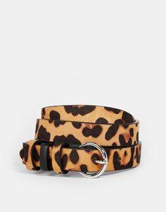 Bild 1 von ASOS – Gürtel mit Leoparden-Print