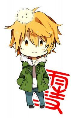 """Símbolo em japonês do nome """"Yukine"""" pode ser visto atras"""