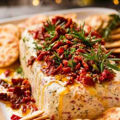 Christmas Appetiser Italian Cheese Log with Christmas tree in background - festive appetizer for the holidays food ideen ideas food food food Holiday Appetizers, Appetizer Recipes, Holiday Recipes, Dip Recipes, Cream Cheese Appetizers, Christmas Recipes For Kids, Pimento Cheese Recipes, Party Appetizers, Detox Recipes