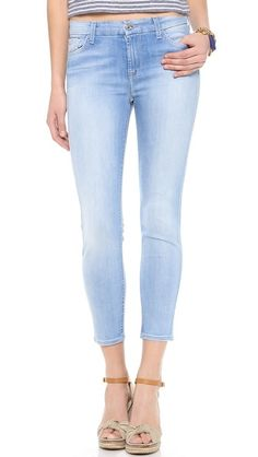 7 For All Mankind High Rise Cropped Skinny Jeans