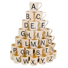 Scrabble Mugs - because even coffee can be a linguistically competitive activity!