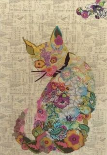 Purrfect Cat Collage Pattern by Laura Heinr