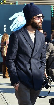 I like this sophisticated Unabomber look!