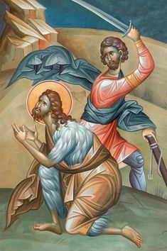Beheading of St. John the Baptist. Byzantine Icons, Byzantine Art, Religious Icons, Religious Art, Monastery Icons, Intro To Art, Biblical Art, John The Baptist, Art Base