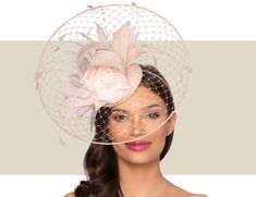 Dramatic, Disc-Shaped, Ladies Cocktail Hat.  A Headpiece Perfect For A Garden Party, Wedding, Horse Race, or Special Occasion. Wedding Hats, Party Wedding, Fascinator, Headpiece, Cocktail Hat, Fancy Hats, Kentucky Derby Hats, Horse Racing, Gold Coast