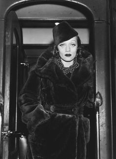 Marlene Dietrich in fur 1937