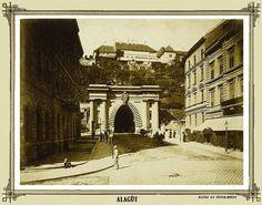 Western entrance of the Tunnel of Budapest, 1894. (Photo by György Klösz)