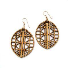 Joyo — Bound Earrings #lasercut #wood