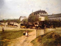 Old painting of the Central Station - 1870?