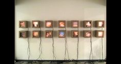 5 Cameron Sharp_We Hold Photographs . 14 light boxes at . Candle Sconces, Sliders, Wall Lights, Photographs, Boxes, Collage, Candles, Sculpture, Home Decor