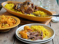 Slow Roast Persian Lamb with Aromatic Rice - Lavender and Lovage Lamb Recipes, Meat Recipes, Food Processor Recipes, Cooker Recipes, Recipies, Healthy Recipes, Microwave Dishes, Slow Roast Lamb, Spiced Cauliflower