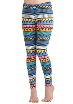 Come ON. These are so ridic and fabulous.  Rockin' Modern Life Leggings from Modcloth, $24.99