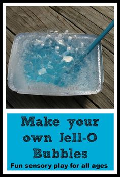 Make your own Jello-O bubbles. Fun and easy sensory play for kids of all ages.
