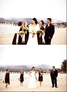 Gorgeous bride and her bridesmaids at this winter wedding at Edgewood Tahoe! Any season is the best season to get married when you choose South Lake Tahoe. Come see why South Shore is the fun side of the lake. #destinationwedding #winterwedding www.tahoeweddingsites.com