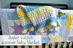 Ravelry: Summer Baby Blanket using the Cluster V-Stitch pattern by Sara McFall
