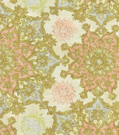 Create lovely projects with this elegant Home Décor Fabric. Flowing graceful floral design with vibrant colors. This design will easily complement any home décor theme you have at home.  Content: 83%