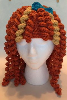Brave Merida Hat, wig, beanie. $40.00, via Etsy.