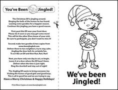 You've Been Jingled - Print the Jingle Elf Poem - Christmas. Wonder what the neighbours would think??.