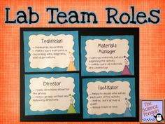 Lab Team Roles Freebie from The Science Penguin