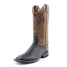 Tony Lama Black Caiman Cowboy Boots