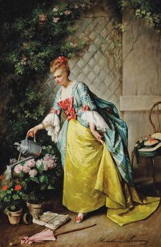 madeleine-jeanne-lemaire-1845-1928-watering-the-flowers.jpg 502×768 pixels