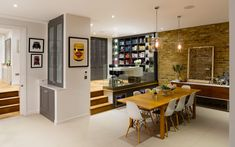 """Granit Chartered Architects designed Broadgates Road residence in London, England. """"We were asked to design an extension at ground level and fully refurbish this property to a high standard, … Open Plan Kitchen Living Room, Family Kitchen, Open Plan Living, My Living Room, Interior Design Living Room, Living Room Decor, Living Area, Split Level Kitchen, Kitchen Diner Extension"""