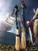 Steampunk witch brooms
