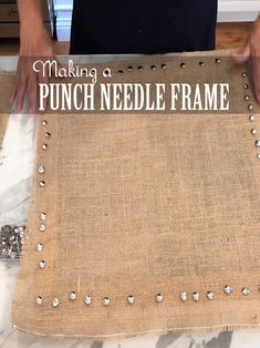 Ttutorial on making a punch needle frame from canvas stretcher bars.