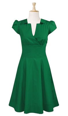 CUTE for Easter - Surplice front poplin dress
