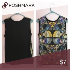 Pretty tribal/floral printed shirt Stretch material, very cute, perfect with jeans and heels Forever 21 Tops Blouses