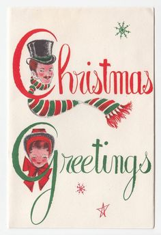1124 best vintage christmas greeting cards three images on pinterest vintage greeting card christmas old fashioned people couple typography font m4hsunfo