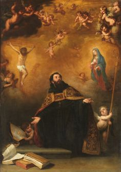 San Agustín entre Cristo y la Virgen / Saint Augustine between Christ and the… Baroque Painting, Baroque Art, Religious Paintings, Religious Art, Catholic Art, Catholic Saints, Esteban Murillo, Christian Mysticism, Lives Of The Saints
